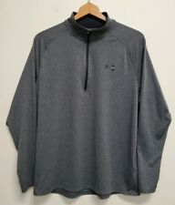 UNDER ARMOUR PULLOVER LONG SLEEVE 1/4 ZIP LOOSE HEAT GEAR, Gray, Large