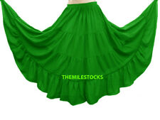 Black - TMS 4 Tiered Skirts Belly Dance Penal Gypsy Flamenco - 25 Colors Instock