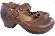 DANSKO MARY JANES SHOES BROWN LEATHER SIZE 39