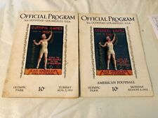 Official Program Lot of 2 1932 Los Angeles Olympic Games & American Football