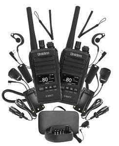 UNIDEN UH755-2DLX 5 WATT UHF CB SPLASHPROOF HANDHELD RADIO - DELUXE PACK