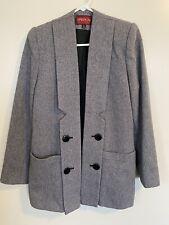 Vintage Womens Sasson Tweed Blazer Size 10 Shoulder Pads