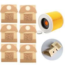 Für Karcher MV2 WD2.200 WD3.500 Staubsauger 6 X Papier Beutel & Filter