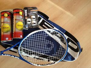 Tennisschläger Head, bespannt, mit passender Schlägertasche, sehr guter Zustand