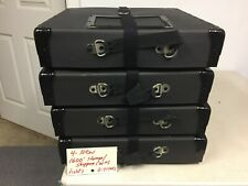 16mm Film 3-4 reel storage/shipping Black cases NEW  (4) per lot as shown