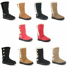 Mid-Calf Synthetic Block Casual Women's Boots