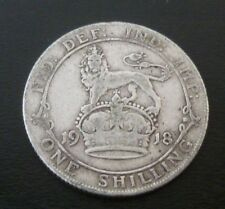 1918 World War One WWI A King's Shilling 100 Year Old Sterling Silver Shilling