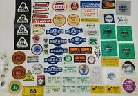 65 Vintage Mining Safety Helmet Stickers & Pins Lot Illinois Asarco Draegerman