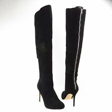 Women's DV by Dolce Vita Keva Shoes Black Suede Over-The-Knee Boots Sz 9.5 M NEW