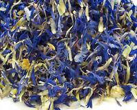 Dried Blue Cornflower Petals, Cake Decor Craft Garnishes Tea Making Confetti
