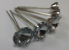 10pk 20mm Diamante Split Pin Upholstery Buttons for Headboards/Chairs/Beds etc