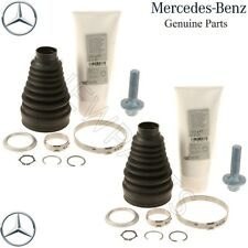 For Mercedes C E GLK S Class Pair Set of 2 Front Inner CV Axle Boot Kits Genuine