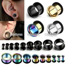 Pick Gauge Stainless Steel Single Flared Ear Plugs Tunnel W/O-ring Stretcher Kit