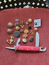 Vintage Imperial Official Usa Boy Scout Pocket Knife Tools with other stuff H4