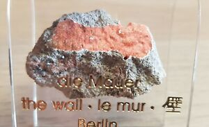 Authentic Piece of The Berlin Wall in Acrylic Holder Stand 31st Anniversary