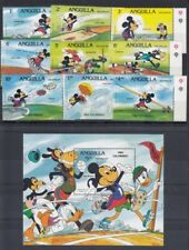 Anguilla 1984 Olympics SG587A- MS596A - Disney characters MNH