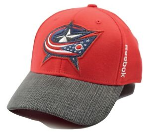 Columbus Blue Jackets Reebok M253Z NHL Hockey Team Stretch Fit Cap Hat L/XL