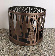 BATH & BODY WORKS Bronze Tree 3 Wick Candle Holder