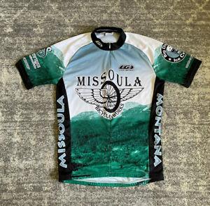 Louis Garneau Mens S Cycling Jersey Short Sleeve Zipper Green Missoula EUC G7