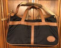 Boyt Runaways Bag Black Nylon Brown Leather Duffle Weekender Carry-On US Made 18