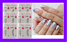 12 Sets INCOCO Nail Polish Applique App Strip Wrap MASTERPIECE Multi Color Swirl