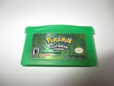 Game Boy Advance Pokemon Leafgreen Leaf Green Authentic Game Boy Advance SP Game