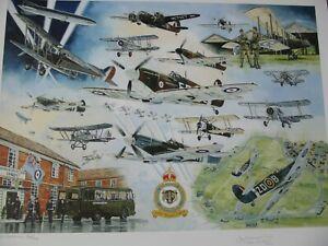 RAF WW1/WW2 Battle of Britain Hornchurch print  signed Artist & 2 Veterans