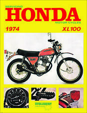 1974 Honda XL100 CycleServ Shop Manual XL100 Repair Service Book