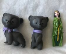 Disney Brave Merida  Mom Queen 2 Littel Bears Brothers PVC Figure Cake Topper