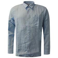 Camicie classiche da uomo regolare regolare in lino