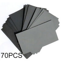 "70pcs Sanding Paper 3""x5-1/2"" 600/800/1000/1200/1500/2000/2500 Grit Assortment"