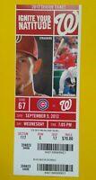 2012 BRYCE HARPER 2 HR #16 #17 Vintage Baseball Washington Nationals Ticket stub