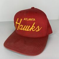 Atlanta Hawks Mitchell & Ness Hardwood Classics SnapBack Hat NBA One Size Red