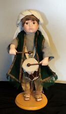 "Ashton Drake ""The Little Drummer Boy"" Musical Porcelain Doll with Stand 1994"