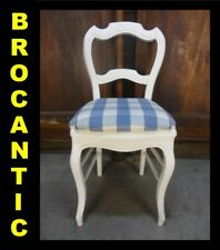 CHAISE LOUIS-PHILIPPE patine blanche -nº4★BROCANTIC★ANTIQUITÉS/BROCANTE/OCCASION
