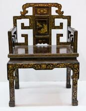 Chinese Black Lacquer Arm Chair Lot 121