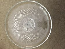 Hand cut SPARKLING CRYSTAL Cake Pastry STAND Round Footed Elegant service PLATE