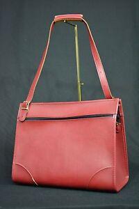 Rare Vintage Hartmann Lugguage Shoulder / Office/ Work/ Overnight Bag. Red Color