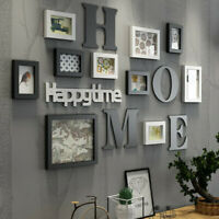 Home Art Decor Photo Picture Frame Collage Set Plaques Wall Wedding Gift USA
