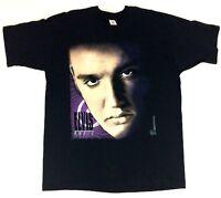 Elvis Presley Magic Shirt VTG 90s Mens 2XL XXL Photo Face Print Rockabilly Music
