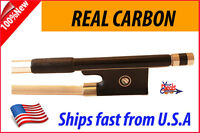 2 x New Genuine Carbon Fiber Violin Bow 4/4 --Black