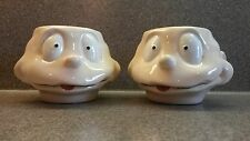SET OF 2 COLLECTIBLE NICKELODEON RUGRATS TOMMY PICKLES CERAMIC COFFEE MUGS