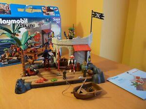 Complete Playmobil PirateFort Superset 6146 - Hideout Port Boat Treasure Island