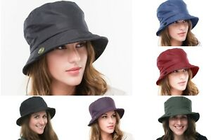 Brand New Ladies Wax Outdoor Walking Country Waterproof Rain Hiking Hat Carol