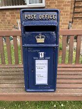 Postbox Letter Post Box - Cast Iron - Scottish Blue - Large - Base Mount