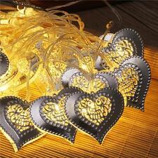 LED Heart Moroccan Fairy String Lantern Light Lamp Garden Home Decor White