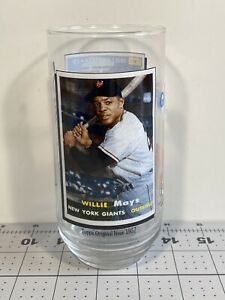 1993 McDonalds Topps Glass Willie Mays Coca Cola MLB All Time Greatest Team