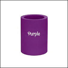 2 Purple Original Style Blank Thick Foam Can & Bottle Coolers