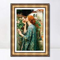 "Framed Art The Soul of The Rose1908 by John William Waterhouse Wall Art 26""x40"""