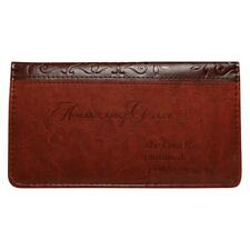 Checkbook Cover, Amazing Grace Brown Faux Leather